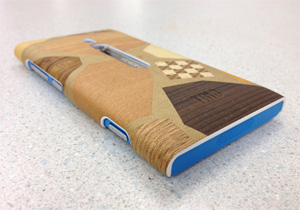 NOKIA's smartphone cover(Hakone Parquet Work/Angled View)