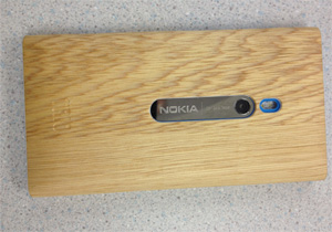 NOKIA's smartphone cover(White Oak/Back)