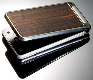A Cellphone decorated with beautiful Ebony