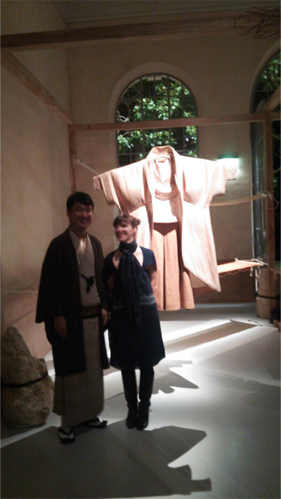 Mr. Miyatani of Miyatani Orimono and the designer, Ms. Aurore Thibout